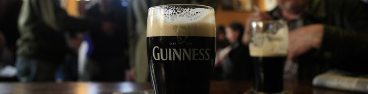 Nothing like a pint of Guinness with a great meal.