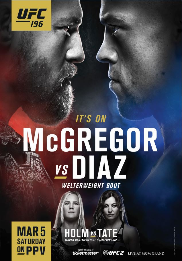 Updated UFC 196 Artwork